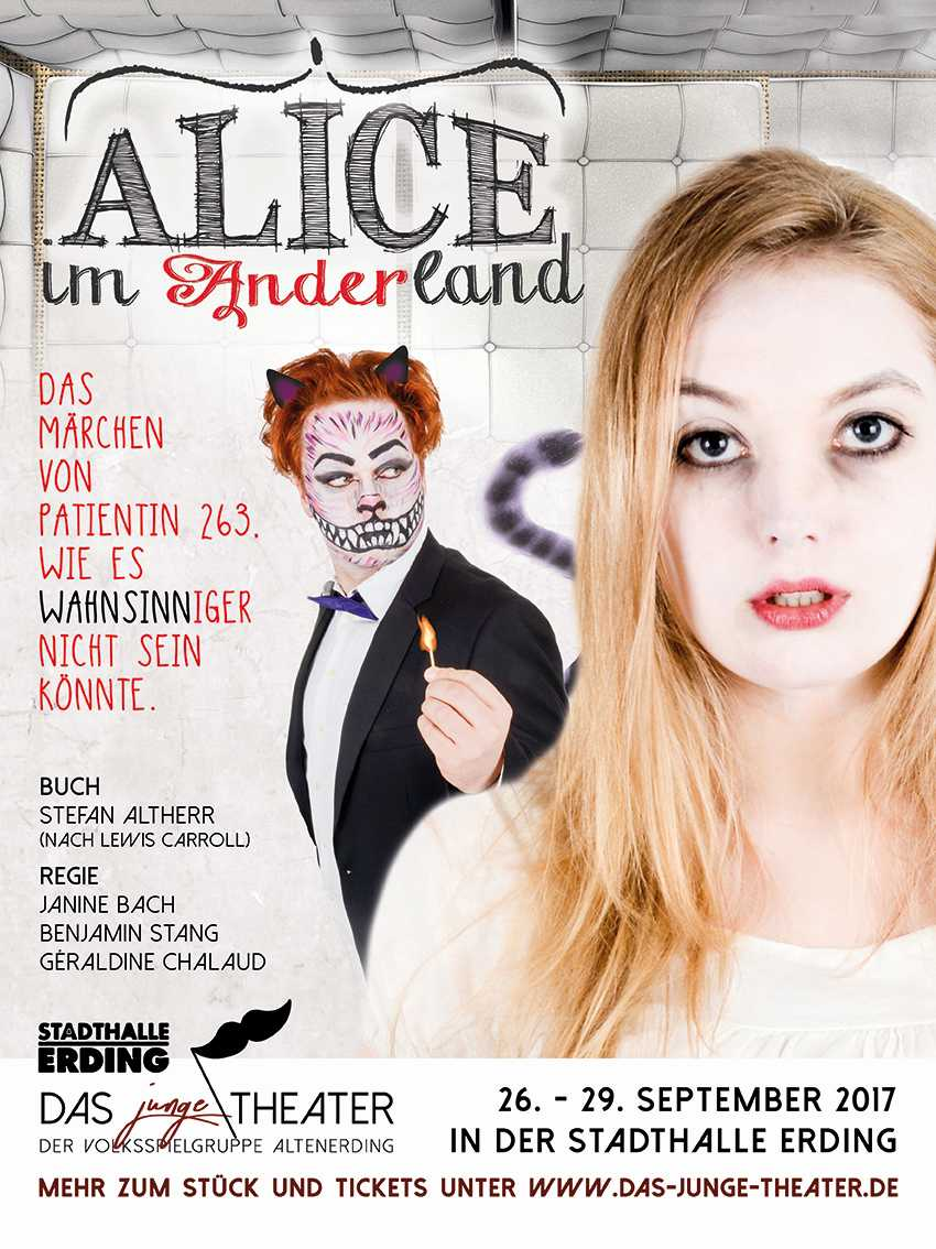 AliceImAnderland Flyer A5 Front red